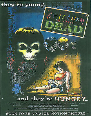 "ORIGINAL ARTWORK FOR JOHN RUSSO'S ""CHILDREN OF THE DEAD"" -- 11X17 -- AUTOGRAPHED BY JOHN RUSSO. NOTE: THIS IS THE POSTER FOR THE COMIC BOOK, NOT THE AWFUL MOVIE!!"