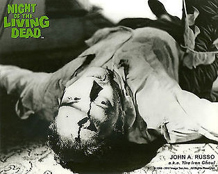 """NIGHT OF THE LIVING DEAD"" PHOTO #1 - JOHN RUSSO AS TIRE-IRON ZOMBIE -- AUTOGRAPHED BY RUSSO"