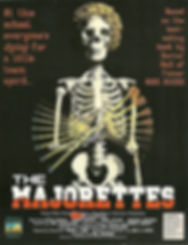 """JOHN RUSSO'S """"THE MAJORETTES"""" MOVIE POSTER -- 11X17 -- AUTOGRAPHED BY JOHN RUSSO."""