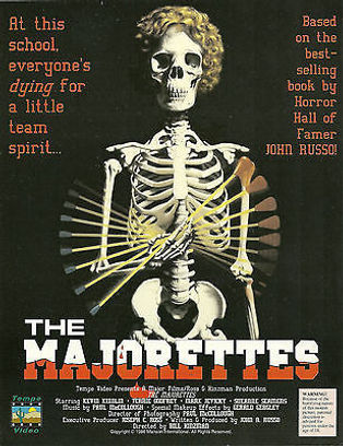 "JOHN RUSSO'S ""THE MAJORETTES"" MOVIE POSTER -- 11X17 -- AUTOGRAPHED BY JOHN RUSSO."