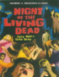 """NIGHT OF THE LIVING DEAD"" MOVIE POSTER FULL-COLOR -- 11X17 -- AUTOGRAPHED BY JOHN RUSSO."