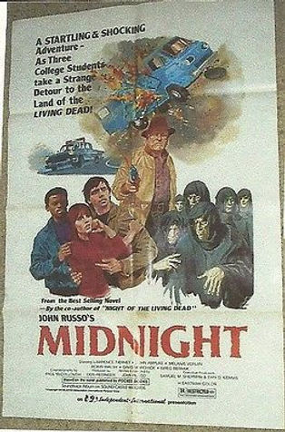 This 20x40 one-sheet was made from a painting by famous movie artist GRAY MORROW and it features Hollywood Star LAWRENCE TIERNEY.  We brought him out of retirement to star in my movie MIDNIGHT, and QUENTIN TARANTINO cast him in RESERVOIR DOGS.