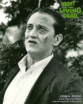 """NIGHT OF THE LIVING DEAD"" PHOTO #2 - JOHN RUSSO IN GHOUL MAKEUP -- AUTOGRAPHED BY RUSSO"