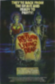 ORIGINAL ARTWORK FOR RETURN OF THE LIVING DEAD -- 11X17 -- AUTOGRAPHED BY JOHN RUSSO