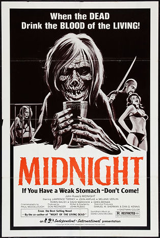 "JOHN RUSSO'S ""MIDNIGHT"" MOVIE POSTER -- 11X17 -- AUTOGRAPHED BY JOHN RUSSO."