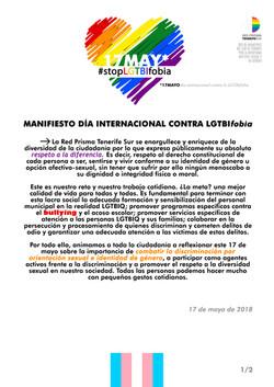 Manifiesto 17 mayo 2018