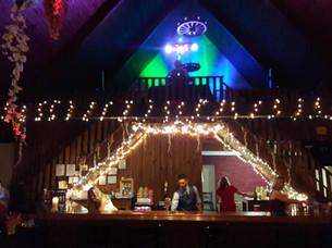 Bar with DJ in loft