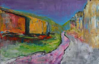 Rivierdans | schilderij in acrylverf | 75 x 115 cm