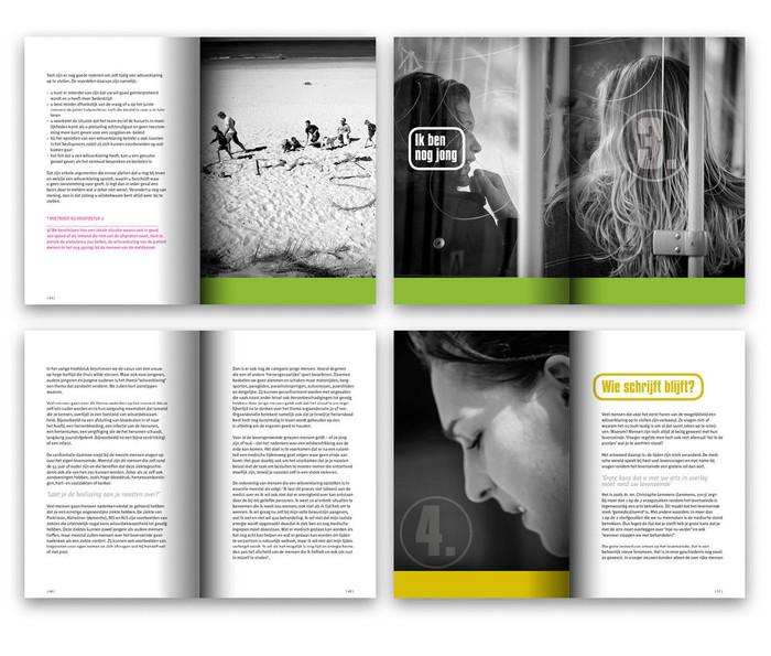 Spread uit boek Wie zegt: 'Het is genoeg | teksten, ontwerp en fotografie | drukwerk