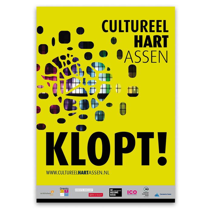 Beeldmerk gebruikt in affiche voor Cultureel Hart Assen | concept, ontwerp & fotografie
