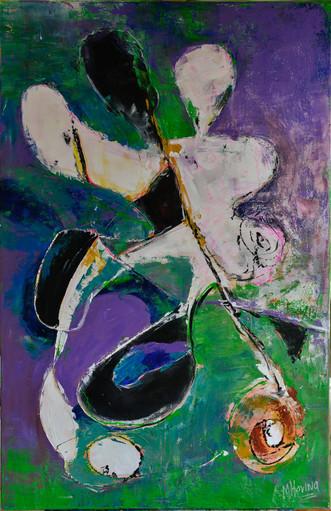 Moving on | schilderij in acrylverf | 75 x 115 cm
