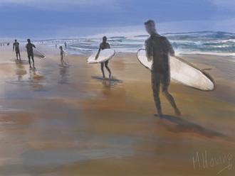 surfers | digitaal kunstwerk