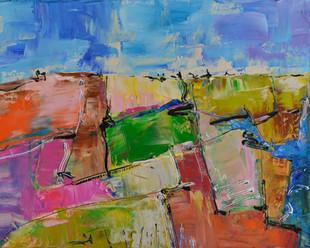 Landschapsescentie | schilderij in acrylverf | 40 x 50 cm