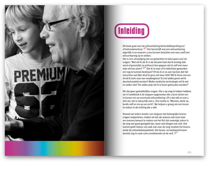 Spread uit boek Wie zegt: 'Het is genoeg…' | teksten, ontwerp en fotografie | drukwerk
