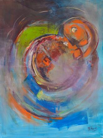 De reis | schilderij in acrylverf | 60 x 80 cm Hemelbloesem schilderij in acrylverf | 100 x 120 cm