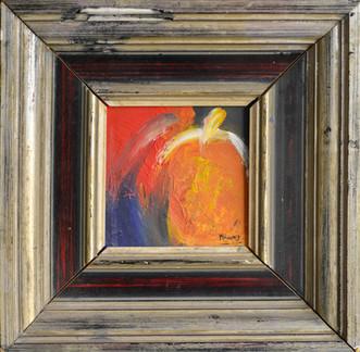 Verlangen | schilderij in acrylverf | 11 x 11 cm