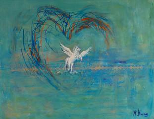 Pegasus | schilderij in acrylverf | 70 x 90 cm