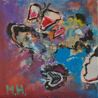Vladderen | schilderij in acrylverf | 15 x 15 cm