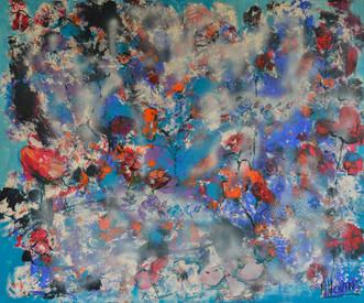 Hemelbloesem | schilderij in acrylverf | 100 x 120 cm