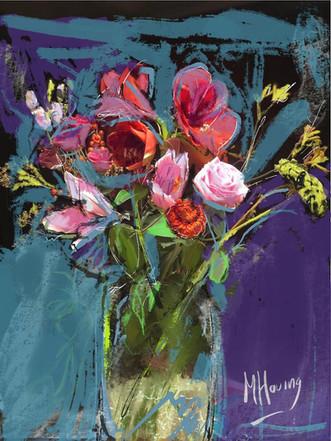 bloemstuk | digitaal kunstwerk