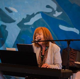Mary Barry at piano