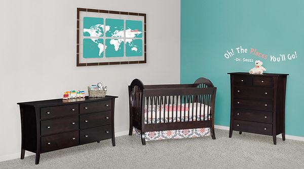 Amish handcrafted crib nursery baby