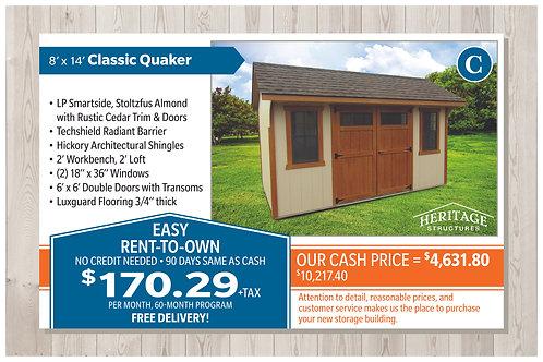 C-8' X 14' Classic Quaker