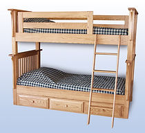 Amish handcrafted bunkbed children's solid wood
