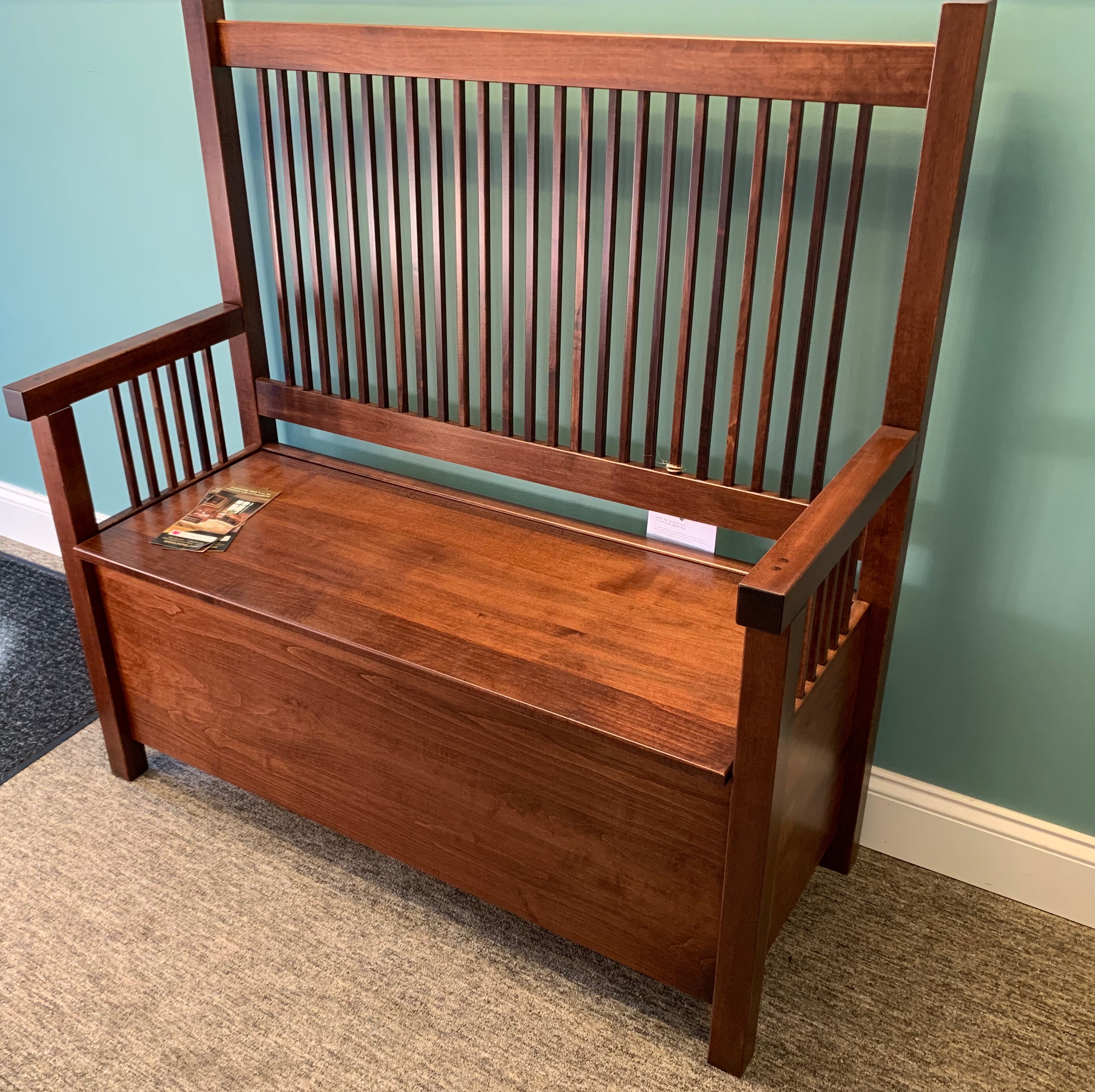 Mission Deacons Bench with storage