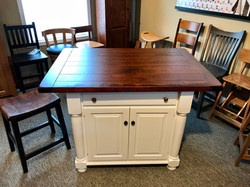 Traditional Island with Rough Sawn Top and Breadboard Ends