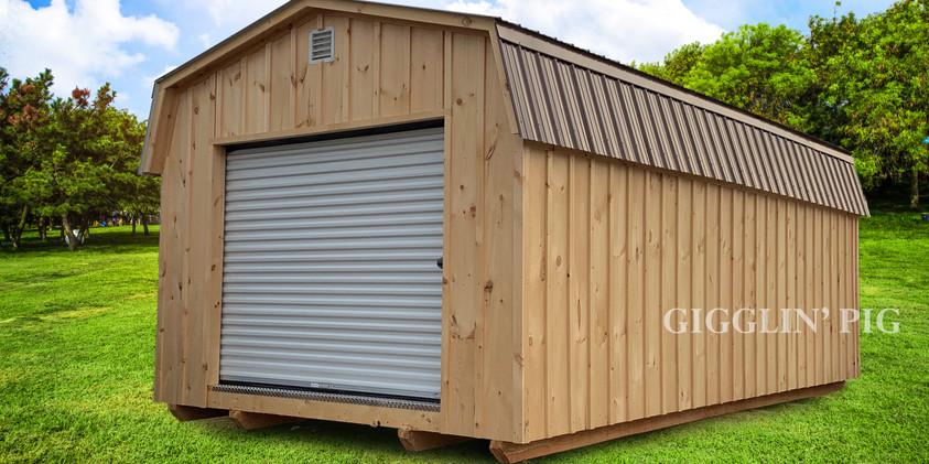 Gambrel-style w/ Opt. Roll-up Door
