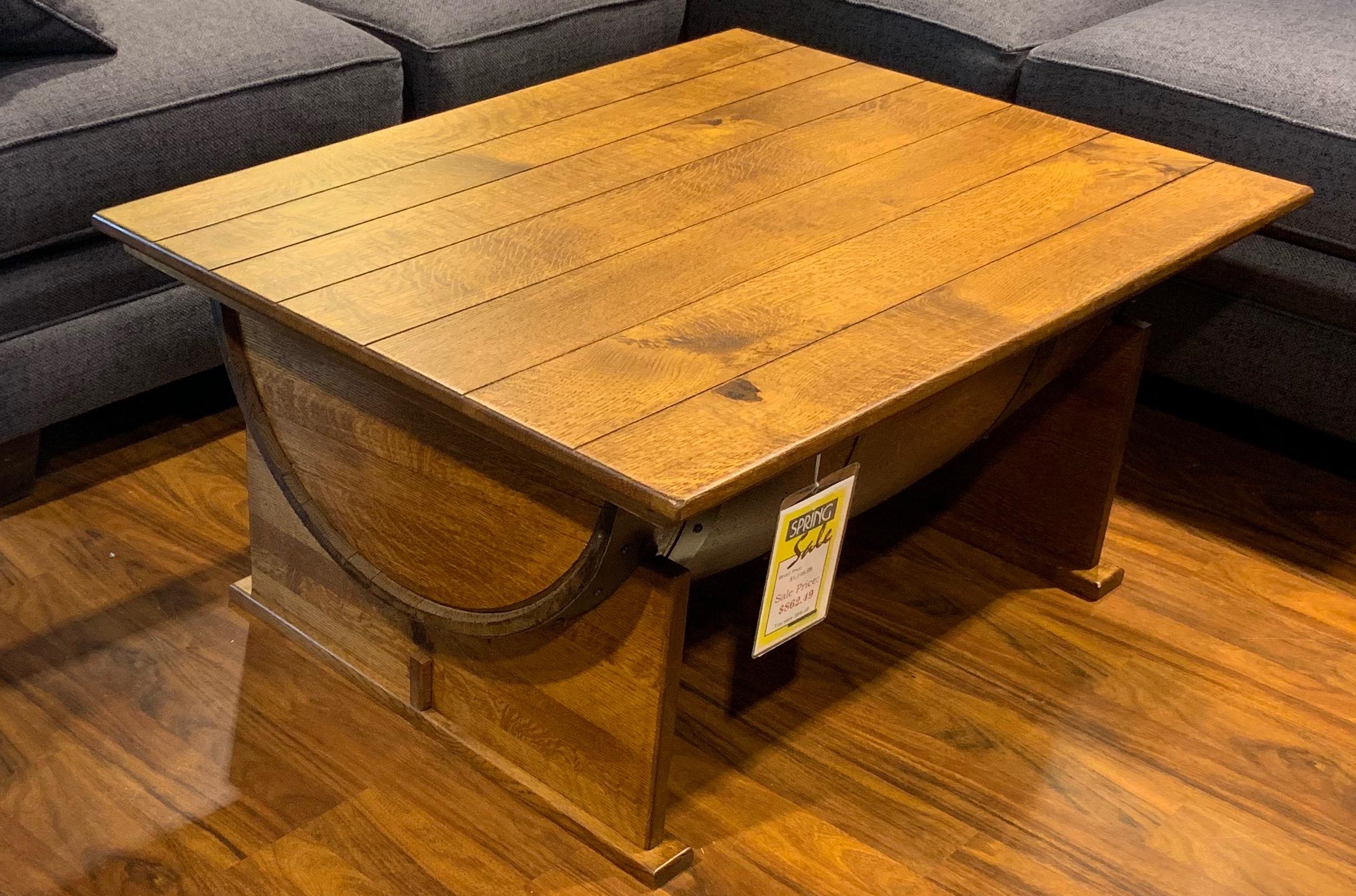 Half Barrel Lift-Top Coffee Table 165-