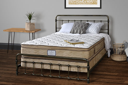 Amish handcrafted mattress pillowtop interspring twin full queen king california king boxspring