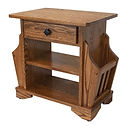 Amish handcrafted Mission Magazine End Table