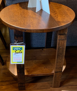 Wine Barrel Round End Table 165-
