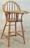 Amish handcrafted highchair baby chair childrens chair