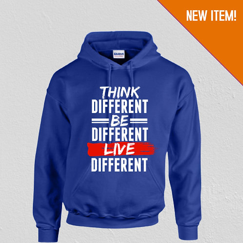 Think Different Unisex Hoodie (Royal Blue)