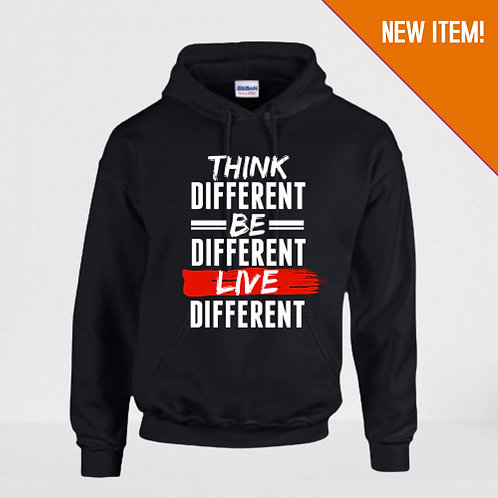 Think Different Unisex Hoodie (Black)