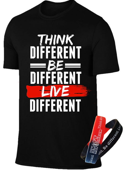MA Think Different Unisex Graphic Tee & Wrist Band Pkg.