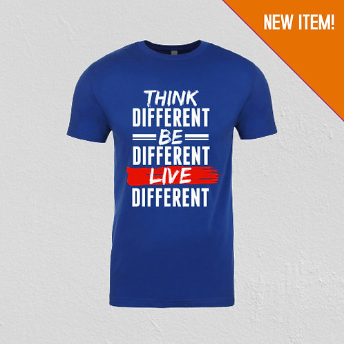 Think Different Unisex Graphic Tee (Royal Blue)