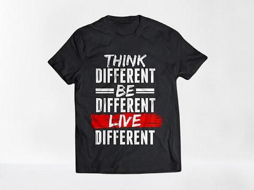 Think Different Unisex Graphic Tee (Black)
