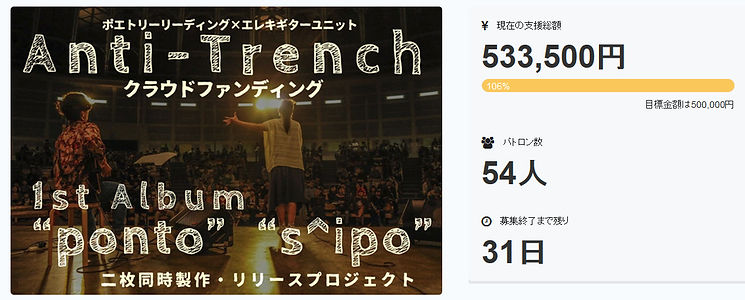 Anti-Trench 目標達成