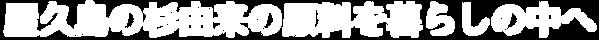 屋久島の杉由来の原料を暮らしの中へ|YAKUSUGI-WOODS