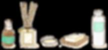エアフレッシュナー|スキンケアクリーム|スキンケアパウダー|入浴料|スキンオイル|トリートメントジェル|アロマパッチ
