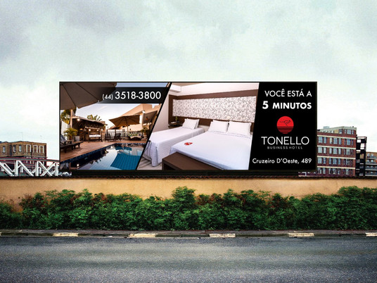 OUTDOOR PARA TONELLO HOTEL | CAMPO MOURÃO-PR