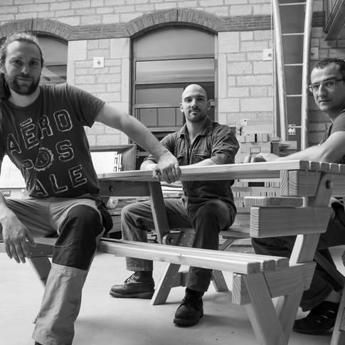 Fin de projet Bois - La table-banc par les Fontanets 216