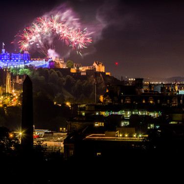 Fireworks and Princes street- 5th august