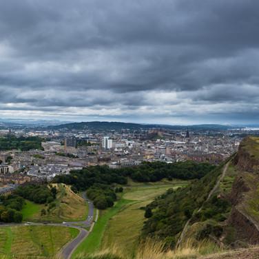 Edimbourg vue depuis Arthur's seat