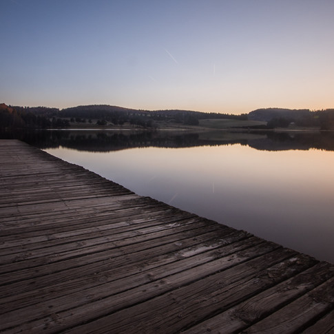 coucher de soleil lac du moulinet - 23 m