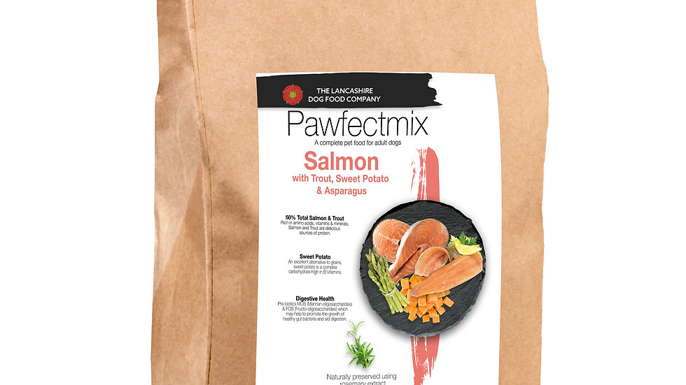 Salmon with Trout, Sweet Potato & Asparagus - Adult Dog - Small Breed